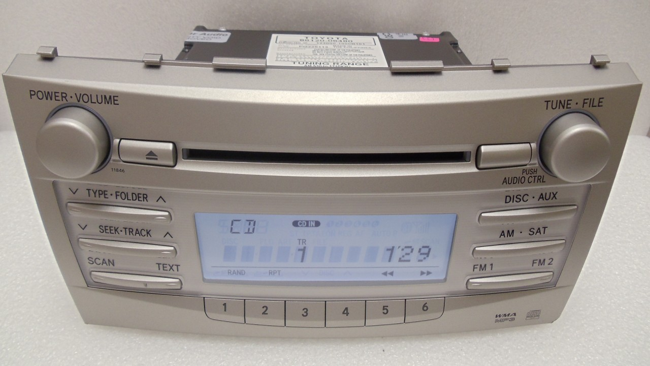 toyota camry le radio xm mp3 cd player 2008 2009 2007 07 08 09 ebay. Black Bedroom Furniture Sets. Home Design Ideas