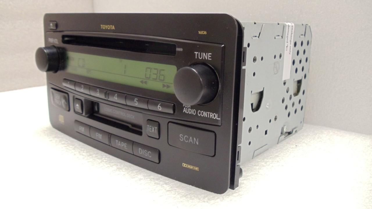 toyota tundra sequoia jbl am fm radio stereo tape cassette. Black Bedroom Furniture Sets. Home Design Ideas