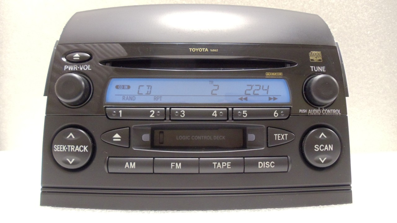 04 05 06 07 toyota sienna am fm radio stereo tape cassette. Black Bedroom Furniture Sets. Home Design Ideas