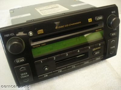02 03 04 toyota camry jbl rds radio stereo 6 disc changer tape cd player a56820 ebay. Black Bedroom Furniture Sets. Home Design Ideas