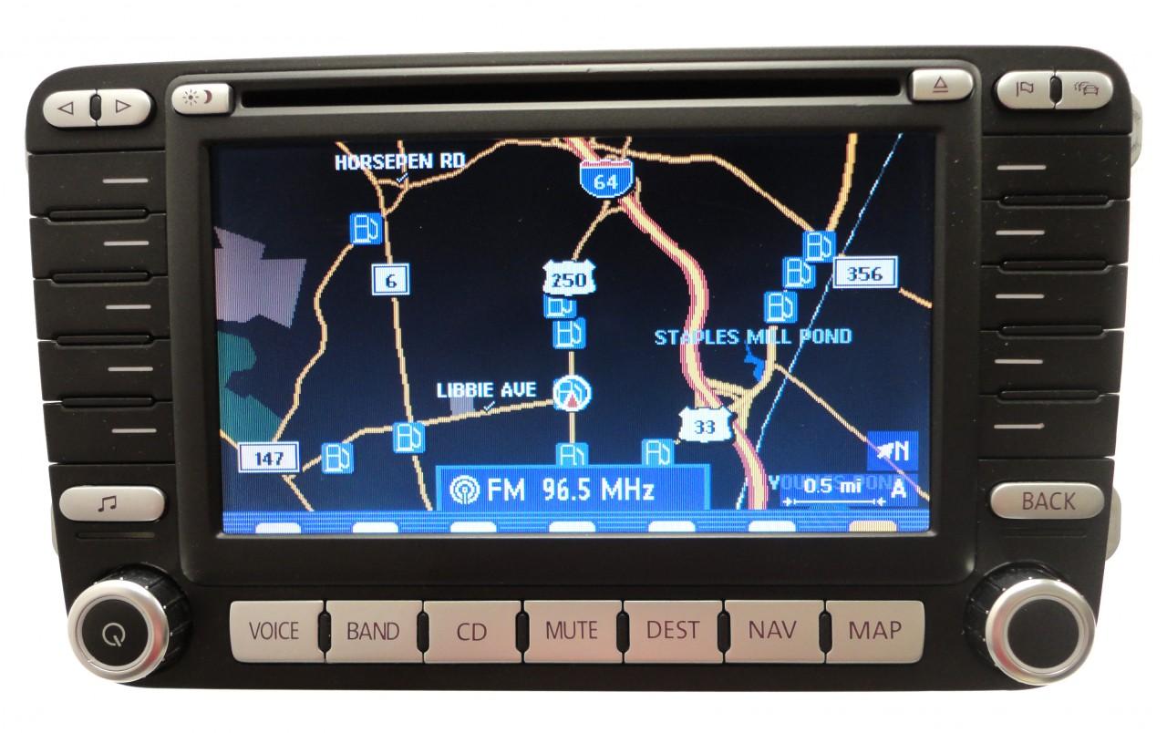 vw volkswagen navigation gps radio stereo cd player lcd. Black Bedroom Furniture Sets. Home Design Ideas