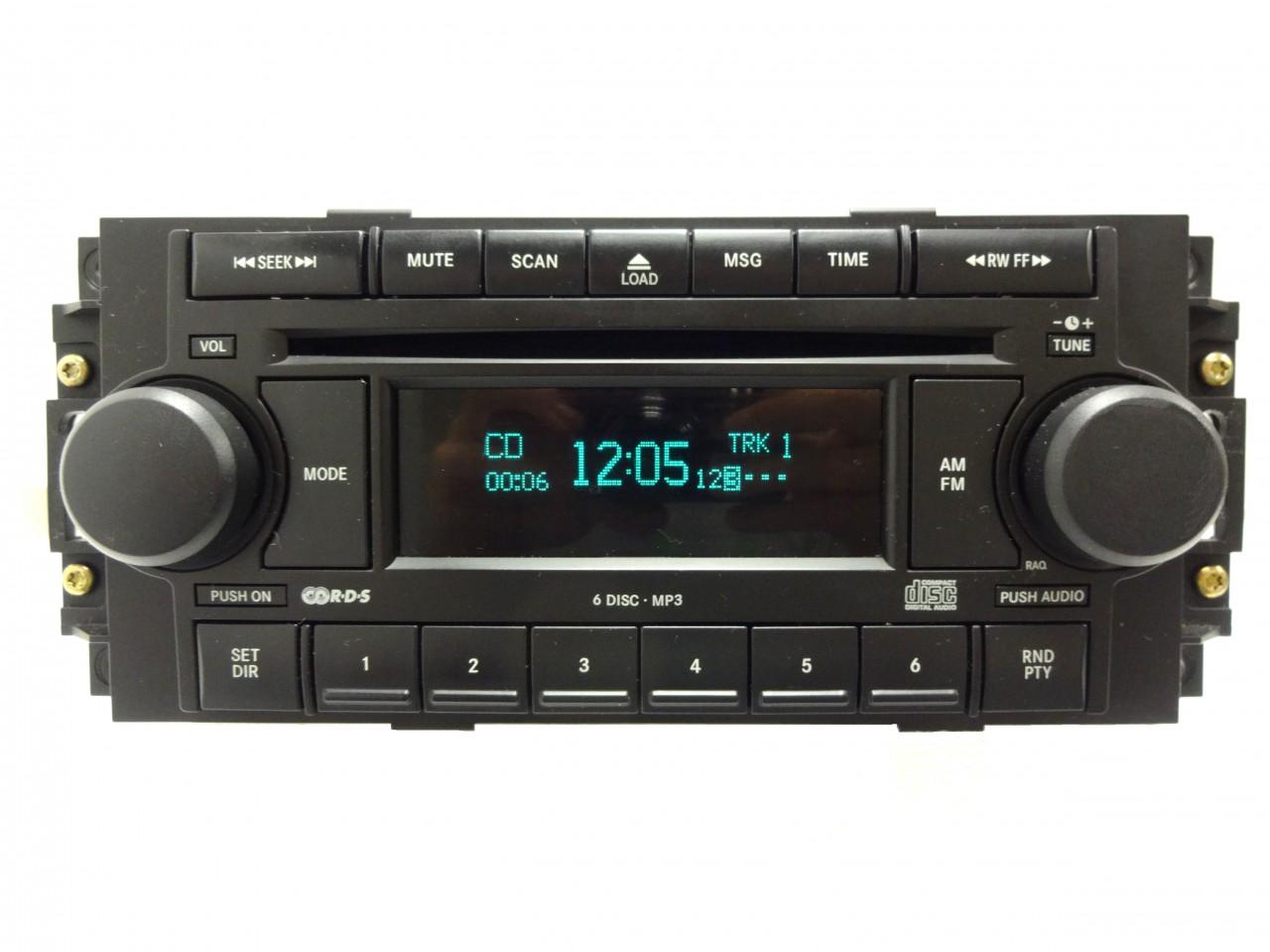 Dodge Chrysler Jeep Radio 6 Disc Changer Mp3 Cd Player Raq