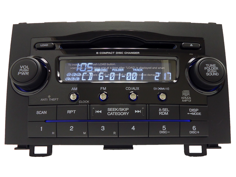 Honda Crv Cr V Xm Radio Aux Stereo 6 Disc Cd Changer Mp3