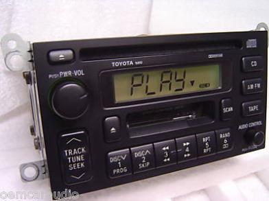 96 97 98 99 2000 2001 Toyota Camry Sienna Solara Radio