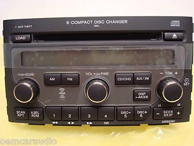 06 07 08 HONDA Pilot Radio Stereo 6 Disc Changer CD Player ...