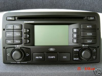 03 04 ford focus radio stereo cd player mp3 blaupunkt oem. Black Bedroom Furniture Sets. Home Design Ideas