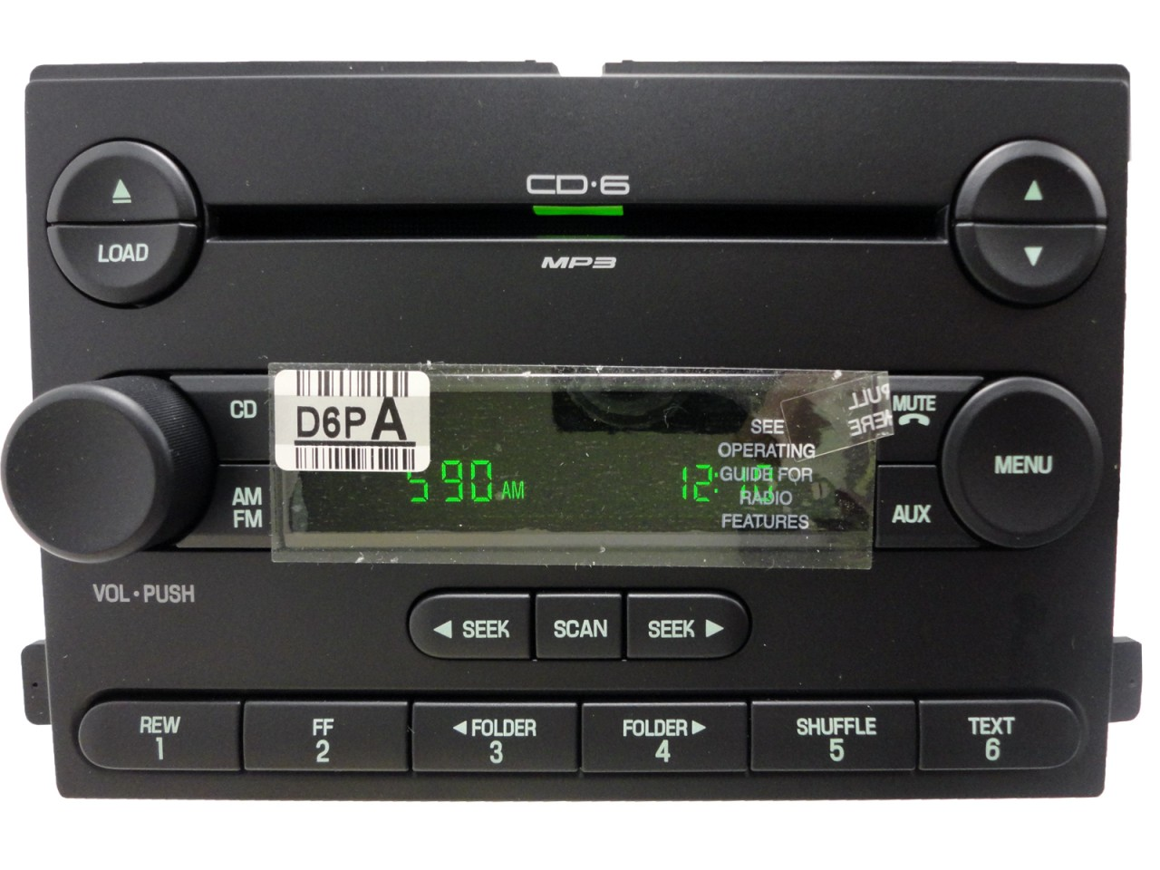 new 05 06 07 ford focus f250 f350 radio stereo 6 disc. Black Bedroom Furniture Sets. Home Design Ideas