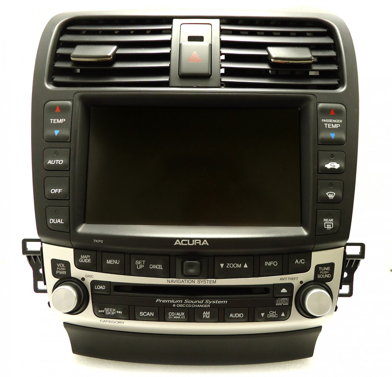 Acura TSX Navigation GPS Radio 6 Disc Changer CD Player 7KP0 Display