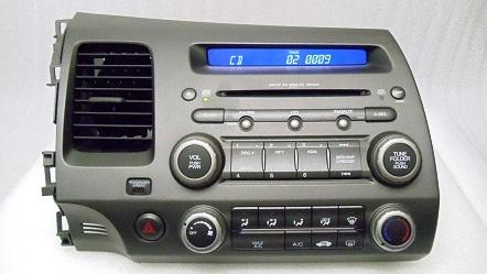 honda civic xm radio mp mp  wma aux input cd disc player ac code ad ebay