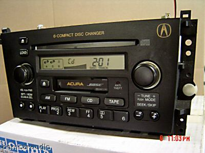 Acura Warranty on Repair Only Acura Tl Cl Radio Stereo Bose 6 Disc Changer Cd Player 01