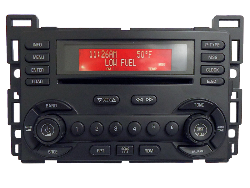 pontiac g6 g 6 radio stereo 6 cd changer player 15243188 uc6 receiver am fm ebay