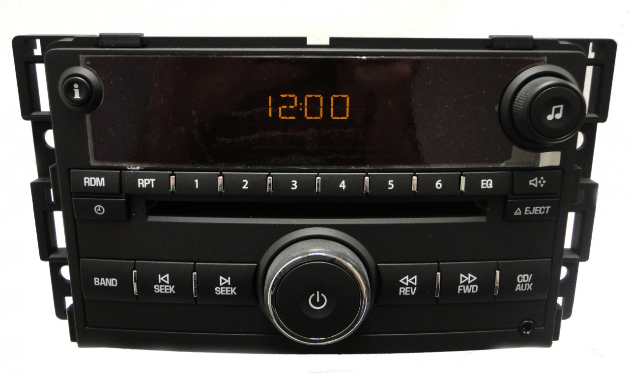 06 07 saturn vue ion am fm radio stereo cd player aux audio auxiliary oem