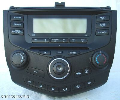 2003 2004 2005 2006 2007 honda accord radio single cd. Black Bedroom Furniture Sets. Home Design Ideas