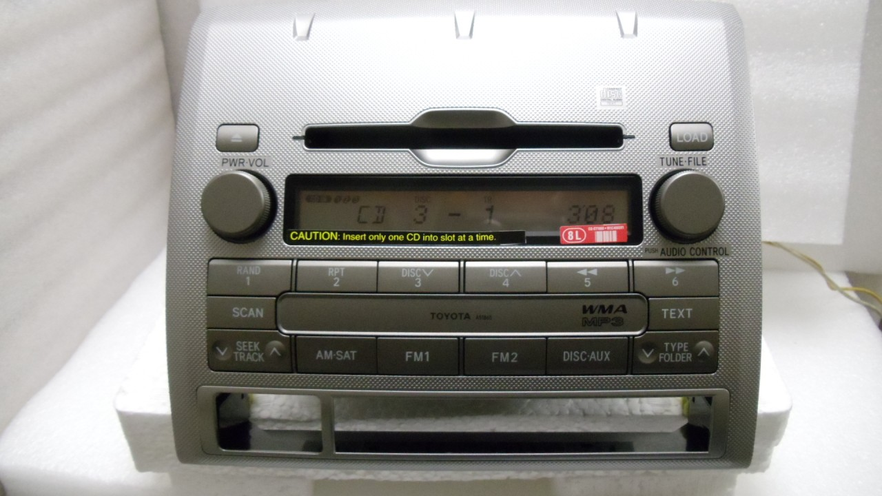 toyota tacoma radio stereo 6 disc changer mp3 cd player. Black Bedroom Furniture Sets. Home Design Ideas