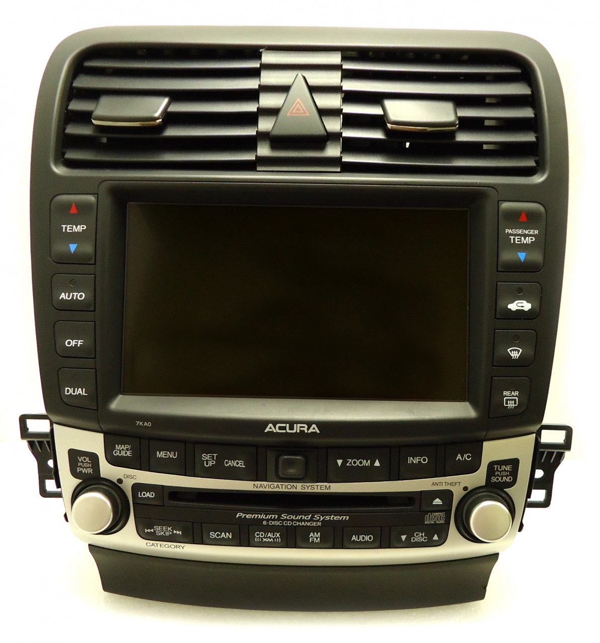2005-2008 ACURA TSX Navigation GPS Radio 6 Disc Changer CD