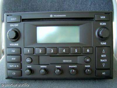 02 03 04 05 vw volkswagen monsoon radio stereo tape cd player w code factory oem ebay. Black Bedroom Furniture Sets. Home Design Ideas