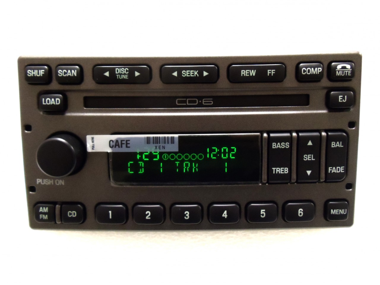 new 01 02 03 04 ford explorer sport trac radio stereo 6 disc changer cd player ebay. Black Bedroom Furniture Sets. Home Design Ideas