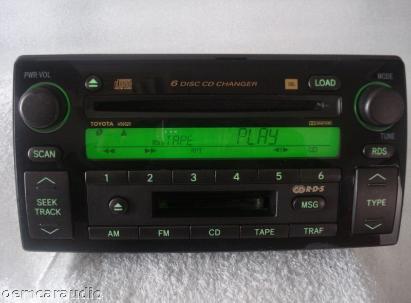 toyota camry xle 6 disc cd player changer radio oem jbl stereo receiver am fm ebay. Black Bedroom Furniture Sets. Home Design Ideas