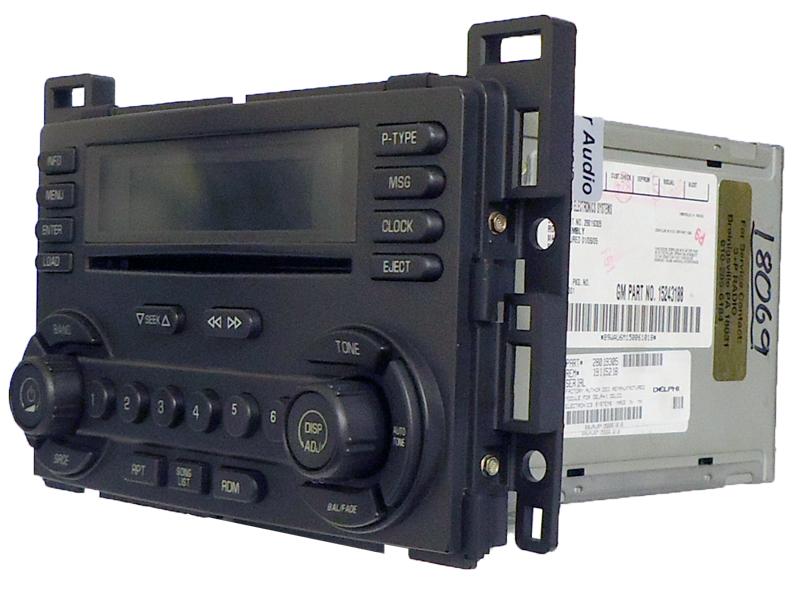 pontiac g6 g 6 radio stereo 6 cd changer player 15243188 uc6 receiver am fm ebay