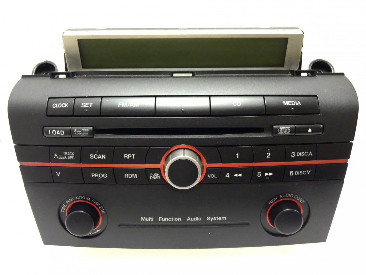 06 07 08 mazda 3 radio stereo 6 disc changer cd player. Black Bedroom Furniture Sets. Home Design Ideas