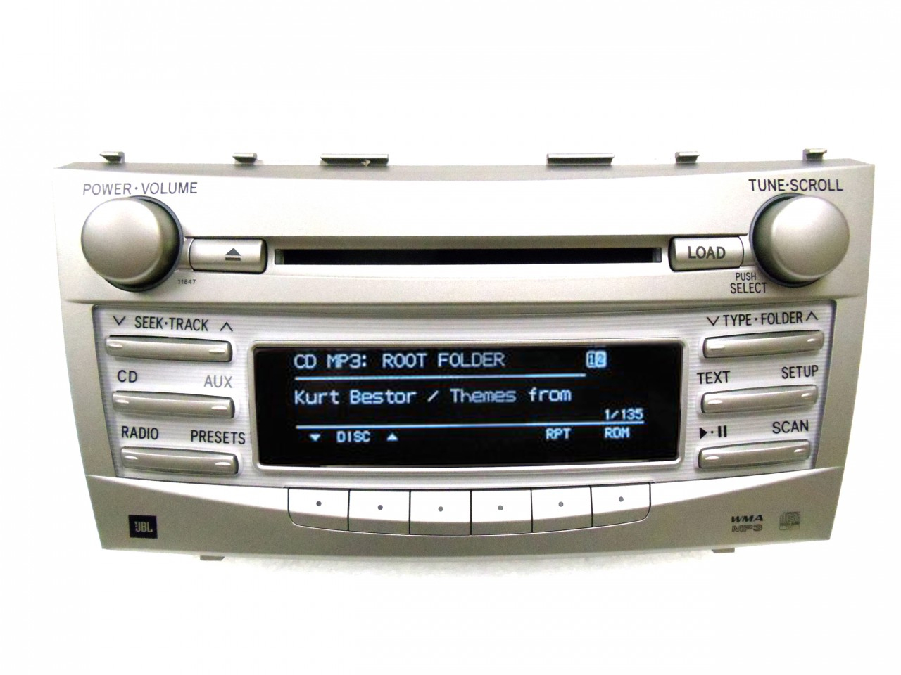 new toyota camry jbl radio 6 disc changer mp3 cd player. Black Bedroom Furniture Sets. Home Design Ideas