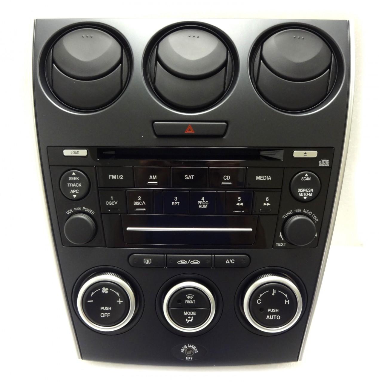 new 06 07 08 mazda 6 radio stereo cd player auto climate temp controls oem ebay