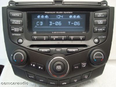 honda accord 6 disc changer cd player radio stereo coupe. Black Bedroom Furniture Sets. Home Design Ideas