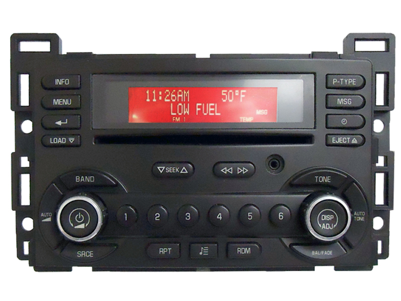 pontiac g6 g 6 radio stereo 6 disc changer cd player aux oem 15848801 am fm