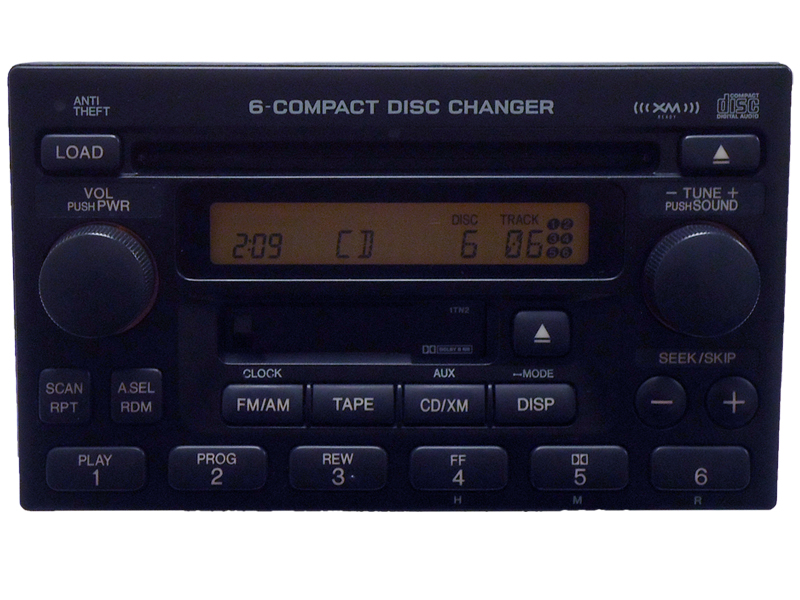 02 03 04 2005 2006 honda prelude crv accord odyssey xm radio 6 disc cd changer