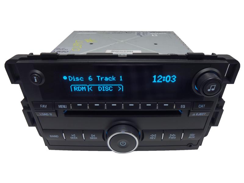 07 08 Chevy Impala Monte Carlo Radio 6 Disc CD Changer  Player Aux 15951759