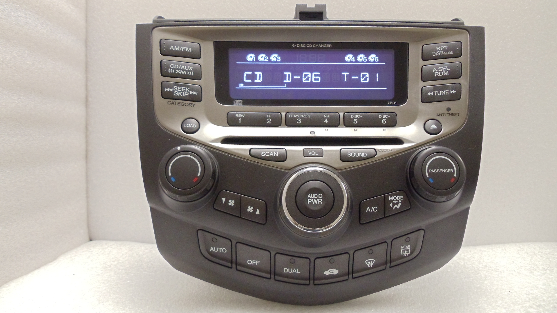 05 06 07 honda accord radio stereo 6 disc changer cd. Black Bedroom Furniture Sets. Home Design Ideas