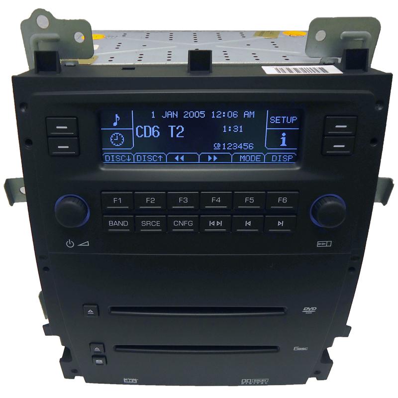 07 08 Cadillac Escalade ESV Ext Radio  6 CD DVD Player 15934176 Factory