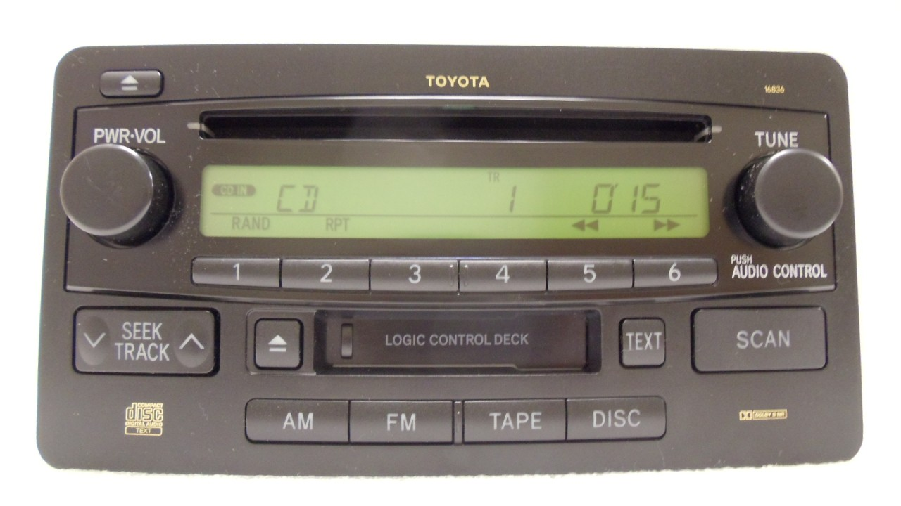 Toyota 86120 0c080 Wiring Diagram Detailed Diagrams Satellite Radio 03 04 Tundra Sequoia Oem Jbl Am Fm Stereo Tape 2011 Camry
