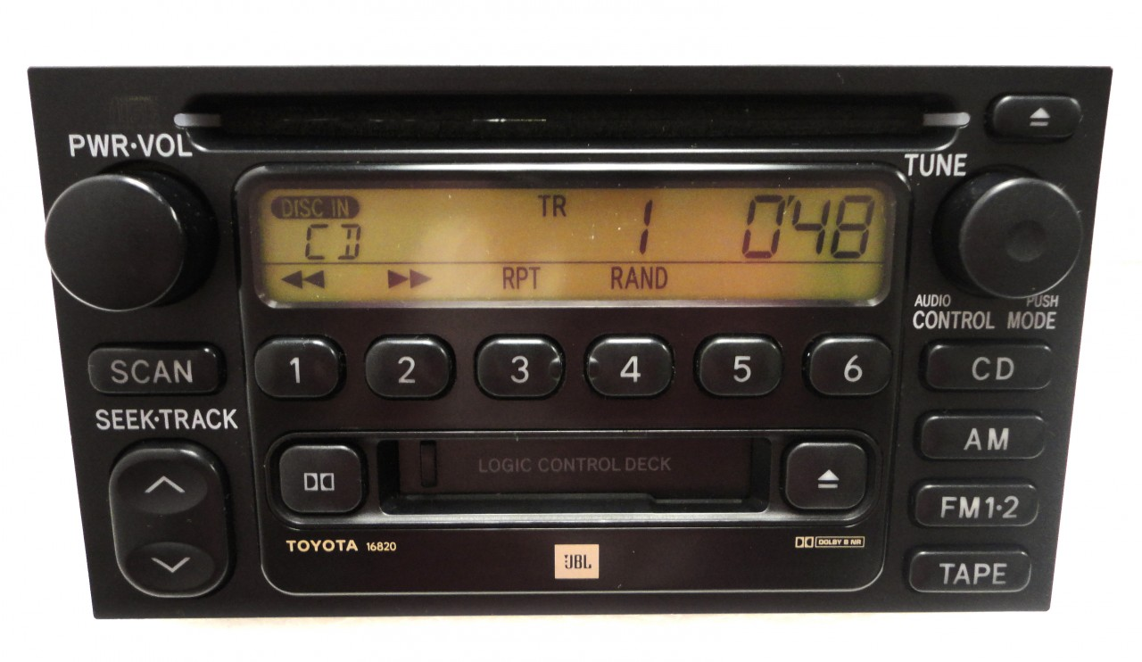 repair service only toyota am fm radio stereo single cd. Black Bedroom Furniture Sets. Home Design Ideas