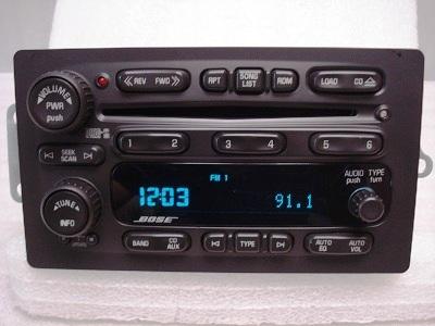 Chevrolet Buick Trailblazer Envoy OEM BOSE 6 CD Player ...