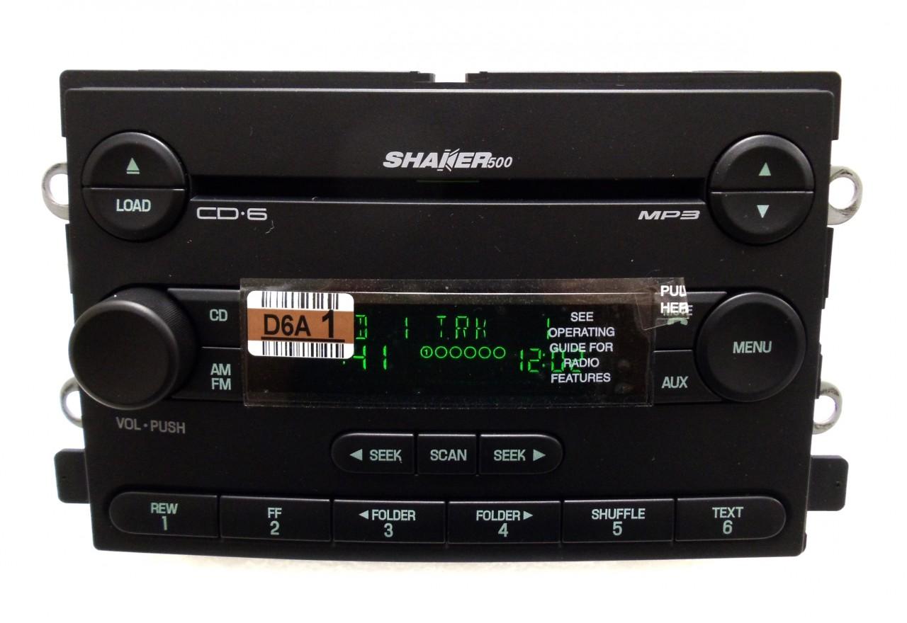 New 05 06 Ford Mustang Shaker 500 Radio Stereo 6 Disc Changer  CD