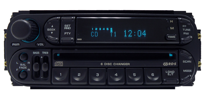 DODGE JEEP CHRYSLER Durango Ram RBQ Radio 6 Disc Changer CD Player