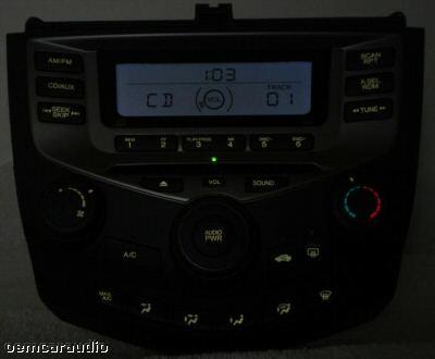 03 04 05 06 Honda Accord Radio Stereo Cd Player 2ac2 Manual Temp Climate Control Ebay
