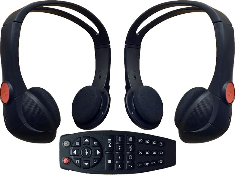2005-2012 GM Chevy REAR ENTERTAINMENT HEADSETS HEADPHONES ...