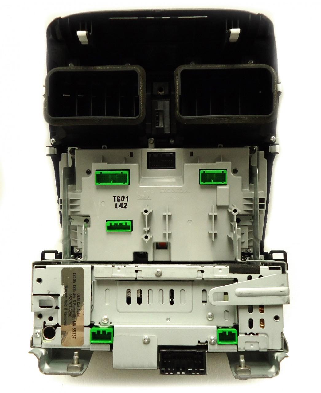 ACURA TSX Navigation GPS Radio 6 Disc Changer CD Player