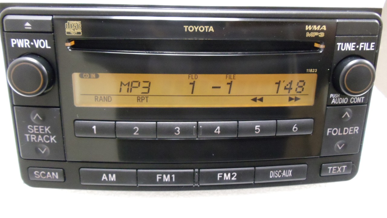 08 09 toyota 4 runner rav4 radio car stereo mp3 cd player aux 11823 oem am fm ebay. Black Bedroom Furniture Sets. Home Design Ideas
