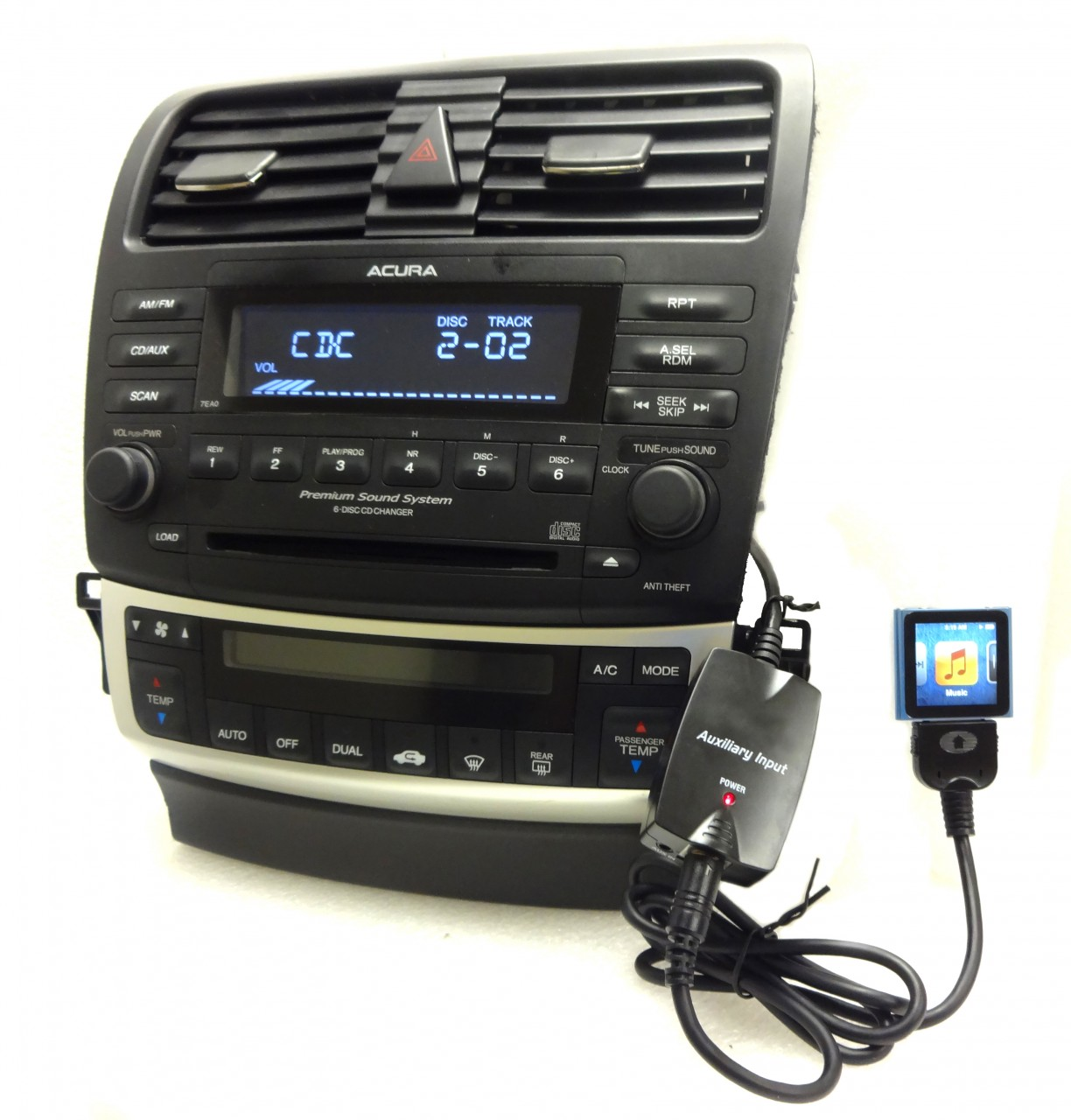 NEW HONDA Accord ACURA IPod IPhone Adapter AUX Auxiliary For Radio - 2004 acura tl aux input