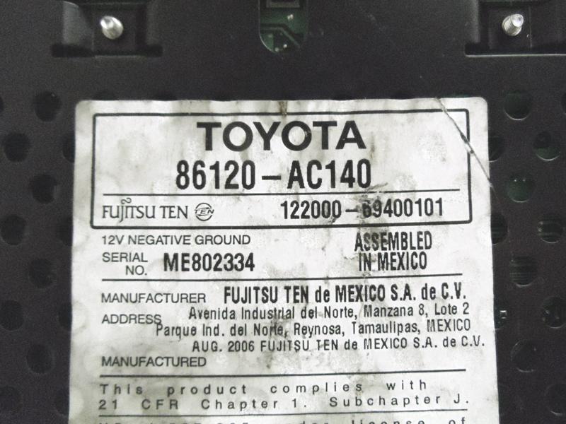 05 06 07 08 09 Toyota Avalon Radio 6 Disc Changer CD Player 11806 ...